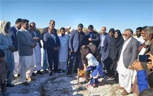 کلنگ احداث یک واحد آموزشی ۶ کلاسه در چاه شورک  جلگه چاه هاشم شهرستان دلگان به زمین زده شد
