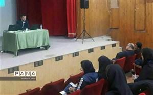سخنرانی مشاور امور جوانان اداره کل آموزش و پرورش استان گلستان بمناسبت هفته پژوهش در دانشگاه گلستان