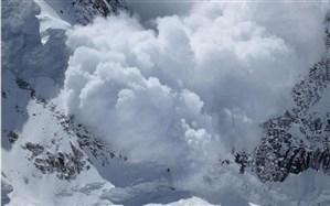 سقوط بهمن در ارتفاعات توچال