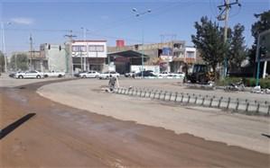 ساماندهی تقاطع چهار راه رسالت یزد