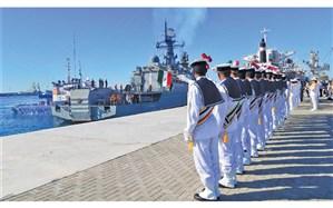 حضور ۵ ناو ایرانی در رزمایش «کمربند امنیت دریایی»