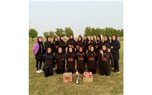 نایب قهرمانی تیم فریزبی بانوان شهرستان امیدیه در مسابقات استانی