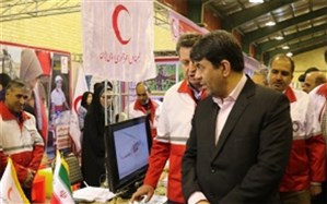 حضور جمعیت هلال احمر استان یزد در نمایشگاه ایمنی در بحران