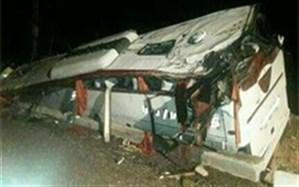 واژگونی اتوبوس با ۱۰ کشته و ۱۱ زخمی در اتوبان زنجان ـ تبریز