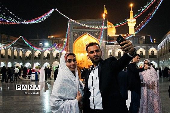 جشن ازدواج دانشجوئی بانام (همسفر تا بهشت) درحرم مطهر رضوی