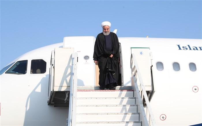 سفر روحانی رئیس جمهور هواپیما