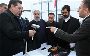بازدید رئیس جمهور از نمایشگاه محصولات تولیدی شرکتهای دانش بنیان اردبیل