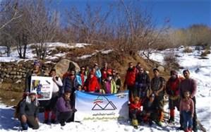 صعود کوهنوردان بهاری به قله کرگز به مناسبت روز پرستار