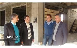 بازدید مدیر آموزش و پرورش منطقه 11 ازپروژه ساخت مدرسه خیّرسازنرجس