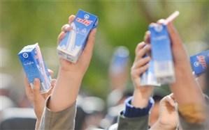 """آغاز توزیع """"شیر مدرسه"""" در مناطق محروم"""