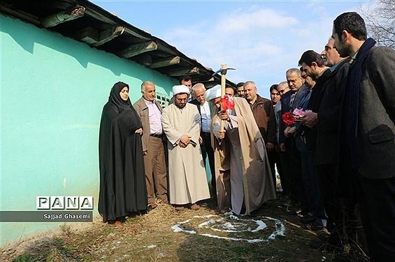 آیین کلنگ زنی احداث بنای جدید امام زاده چهارکوه شهرستان کردکوی