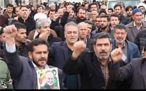 راهپیمایی محکومیت جنایات آمریکا و ترور سپهبد قاسم سلیمانی در یزد برگزار شد