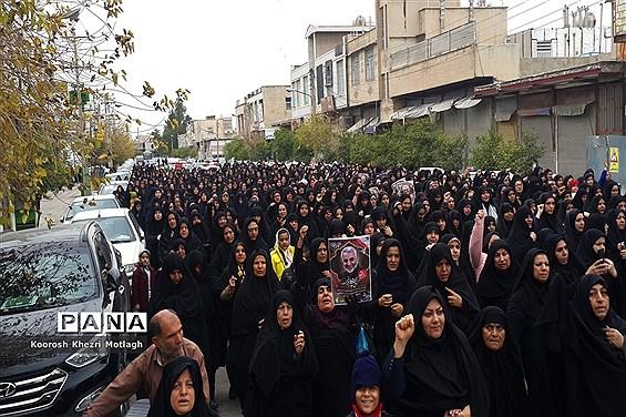 راهپیمایی ضد آمریکایی - صهیونیستی مردم شهرستان کازرون