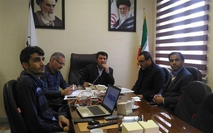برگزاری جلسه ویدیو کنفرانس معاونان پرورشی و تربیت بدنی مناطق و نواحی استان اردبیل