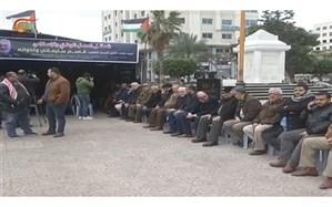 برگزاری مراسم عزای شهیدان سلیمانی و برادرانش در غزه