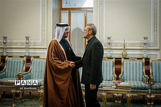 دیدار وزیر امور خارجه قطر با رئیس مجلس