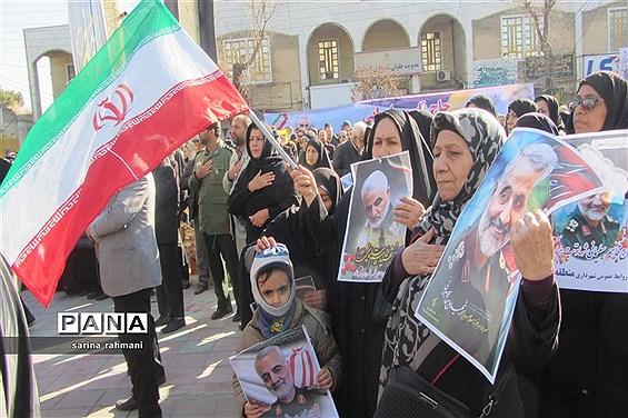 سوگواری مردم کرمانشاه در  پی شهادت سردار سپهبد قاسم سلیمانی