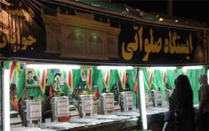 برپایی ایستگاه صلواتی در مسیر یزد-کرمان برای خدمترسانی به زائران شهید سلیمانی