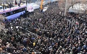 مردم پرشور شهر یاسوج در سوگ شهادت سردار دلها بیقرار و اشکبار بر سر و سینه زدند
