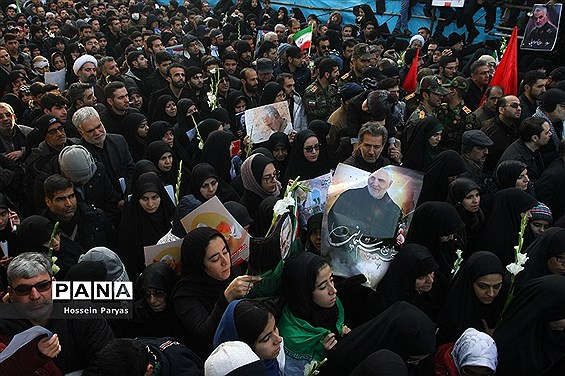 تشییع پیکر شهدای مقاومت در تهران-2