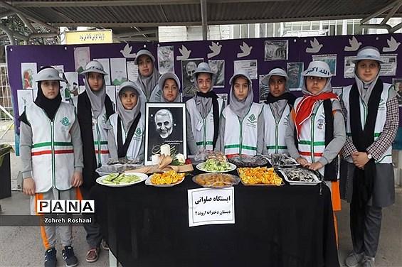 برپایی  کارگاه مهارتی آشنایی با سردار شهید قاسم سلیمانی در دبستان دخترانه اروند ناحیه ۲ اهواز