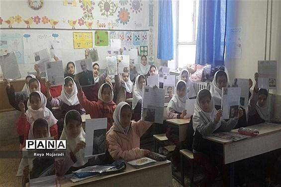 برگزاری نمایشگاه نقاشی در آموزشگاه پروین بهمناسبت شهادت سردار مقاومت در خراسان شمالی