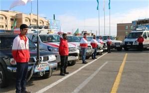 حضور 21 نفر از امدادگران یزدی  و 7 دستگاه آمبولانس در مراسم تشییع  شهید حاج قاسم سلیمانی در کرمان