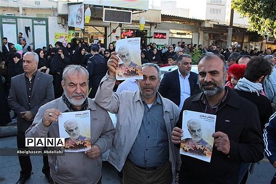 عزاداری مردم بوشهر در سوک سردار شهید قاسم سلیمانی و شهدای مقاومت