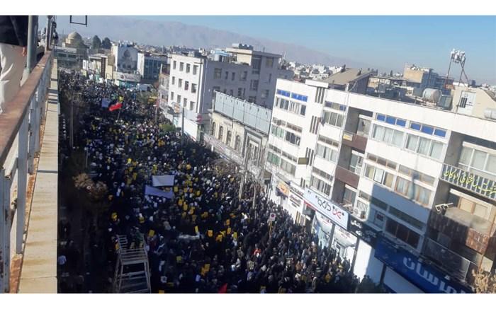 شیراز راهپیمایی و تجمع بزرگ مردم فارس