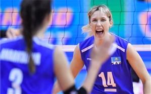 انتخابی والیبال المپیک؛ قزاقستان به صعود نزدیک شد