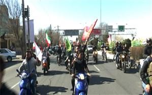 رژه موتور سواران یزدی برای قدردانی از اقدام سپاه