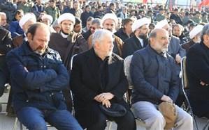 داوود میرباقری در مراسم خاکسپاری شهید حاجقاسم سلیمانی + تصویر