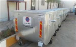 ۴۸ مخزن مکانیزه جمع آوری زباله در منطقه یک کرج نصب شد