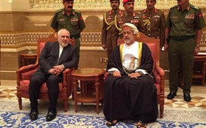 ظریف با پادشاه جدید عمان دیدار کرد + تصویر