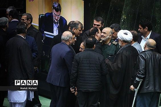 حضور فرمانده کل سپاه پاسداران انقلاب اسلامی در مجلس شورای اسلامی