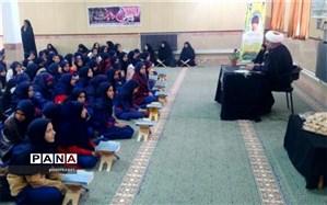 برگزاری مراسم سوگواری شهادت حضرت زهرا(س) وسردارسلیمانی در دبیرستان شهید جهانی مهردشت ابرکوه