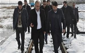 بازدیدمعاون هماهنگی امور عمرانی استاندار آذربایجان غربی از ایستگاه راه آهن ارومیه