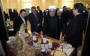روحانی از نمایشگاه توانمندیهای وزارت جهاد کشاورزی بازدید کرد