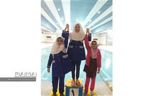 کسب مقام سوم شنای مدارس شاهد شهر تهران توسط منطقه19