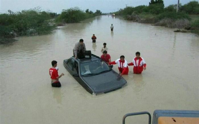 آمادگی هلال احمر گیلان برای جمع آوری کمک های مردمی به سیل زدگان