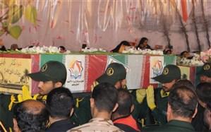 پیکر پاک شهدای گمنام در کنگره سرداران و ۲۰۰۰ شهید استان بوشهر تشییع شد