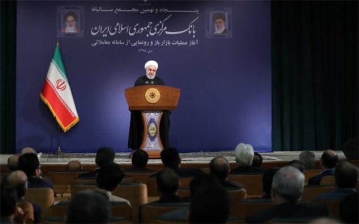 روحانی در بانک مرکزی