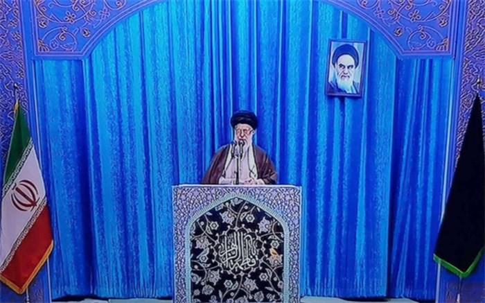 رهبر انقلاب آیت الله خامنه ای در مصلی تهران نماز جمعه