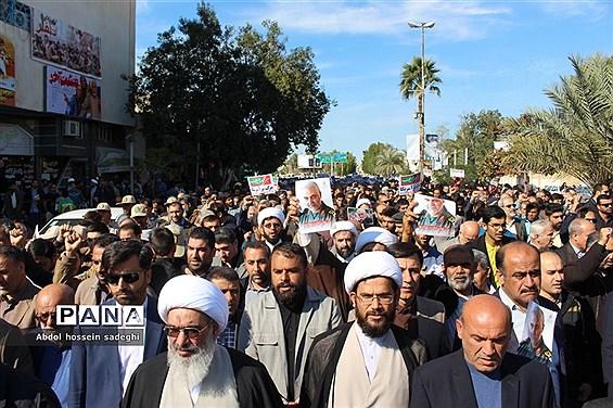 حماسه حضور مردم بوشهر در میثاق با ولایت  حمایت از سپاه و آرمان های انقلاب