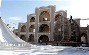 آیین پوشکشی حسینیه شاه ابوالقاسم یزد برای ایام فاطمیه