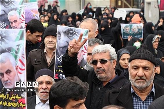 راهپیمایی مردم شهرقدس درحمایت ازسپاه پاسداران