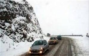 بارش برف و لغزندگی در  محورهای مواصلاتی البرز
