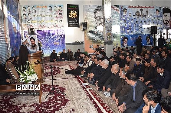 گرامیداشت سردار شهید سلیمانی و دانشجوی شهید امیرحسین قربانی بهابادی در روستای  بنستان بهاباد