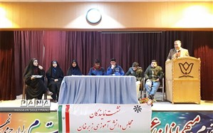 دومین نشست روسای شورای دانش آموزی مدارس زبرخان برگزار شد