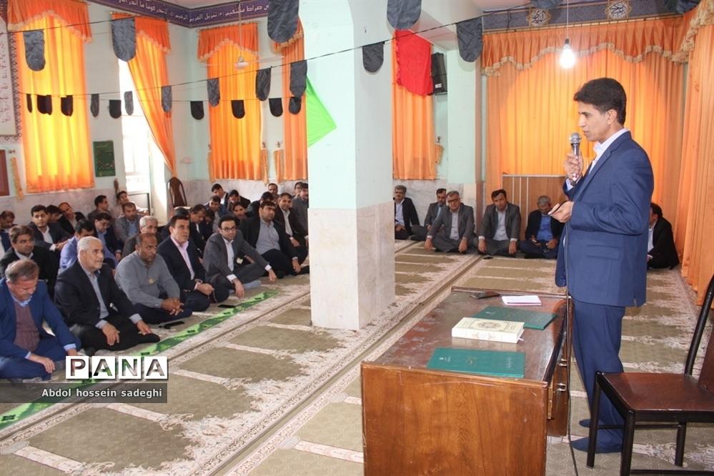 مراسم تودیع و معارفه معاون تربیت بدنی و سلامت ادارهکل آموزش و پرورش استان بوشهر